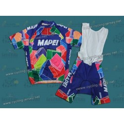 Throwback Mapei Retro Cycling Jersey and Bib Shorts Set
