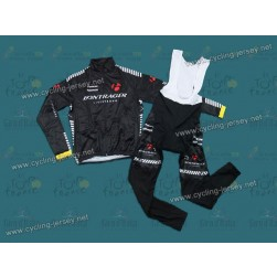 2012 Bontrager Black Thermal Cycling Long Sleeve Jersey And Bib Pants Set