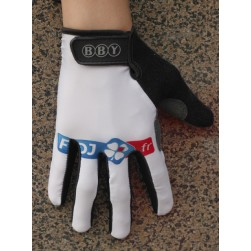 2013 FDJ White Thermal long Cycling Gloves