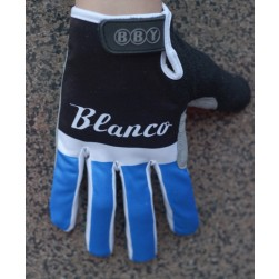 2014 Black And Blue Blanco Thermal long Cycling Gloves