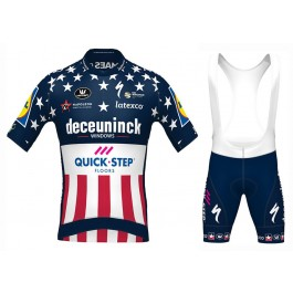 2020 Quick-Step US Champion Cycling Jersey And Bib Shorts Set