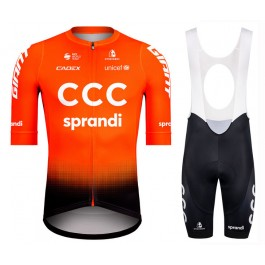 2020 CCC Pro Team Orange Cycling Jersey And Bib Shorts Set
