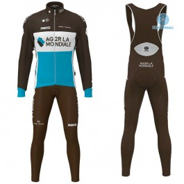 2020 Team AG2R Thermal Cycling Jersey And Bib Pants Set
