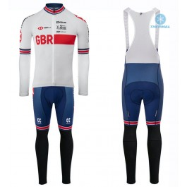 2020 Kalas GBR Country Team White Thermal Cycling Jersey And Bib Pants Set