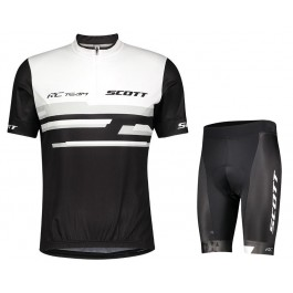 2021 SCOTT-RC Team 2.0 White-Black Cycling Jersey And Shorts Set