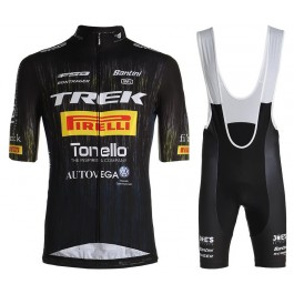 2021 TREK Pirelli Black Cycling Jersey And Bib Shorts Set