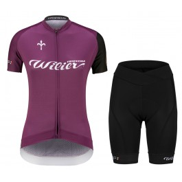 2021 Wilier Club Purple Women Cycling Jersey And Shorts Set