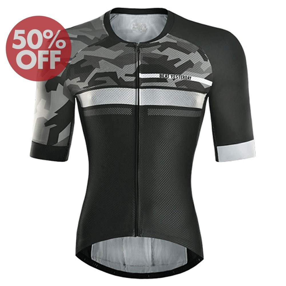 Discount  2017 VelomayKa Best Yesterday Dragonfly Trek Black/Gray Cycling jersey
