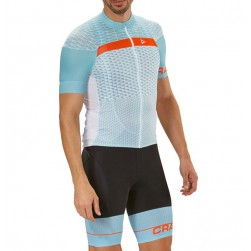 2018 Craft Route Blue Cycling Jersey And Bib Shorts Set