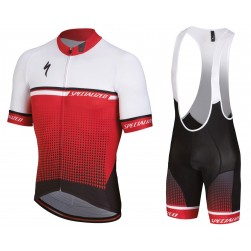 2018 SPED SL-Expert White-Red Cycling Jersey And Bib Shorts Set