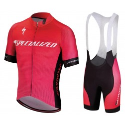 2018 SPED IDT Pink Cycling Jersey And Bib Shorts Set