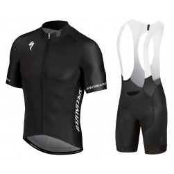 2018 SPED IDT Black Cycling Jersey And Bib Shorts Set