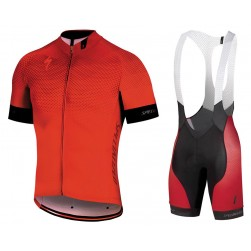 2018 SPED IDT Red Cycling Jersey And Bib Shorts Set
