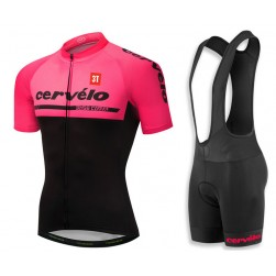 2018 Cervelo 3T Pink Cycling Jersey And Bib Shorts Set