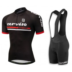 2018 Cervelo 3T Black Cycling Jersey And Bib Shorts Set