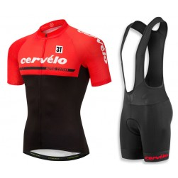 2018 Cervelo 3T Red Cycling Jersey And Bib Shorts Set