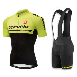 2018 Cervelo 3T Yellow Cycling Jersey And Bib Shorts Set