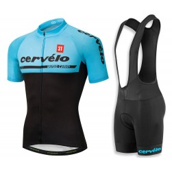 2018 Cervelo 3T Blue Cycling Jersey And Bib Shorts Set