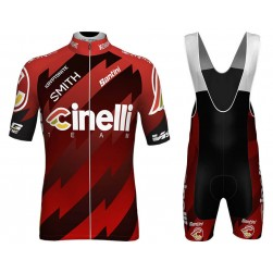 2018 Cinelli Red Cycling Jersey And Bib Shorts Set