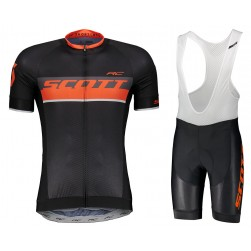 2018 SCOTT RC Black-Red Cycling Jersey And Bib Shorts Set