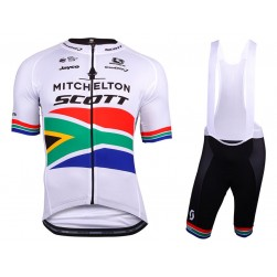 2018 SCOTT Mitchelton South Africa Champion Cycling Jersey And Bib Shorts Set