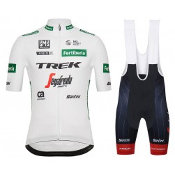 2018 Trek Vuelta White Cycling Jersey And Bib Shorts Set