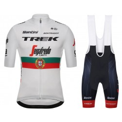 2018 Trek Factory Team Portugal Champion Cycling Jersey And Bib Shorts Set