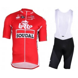 2018 Lotto Soudal Tour De France Red Cycling Jersey And Bib Shorts Set