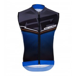 2016 Santini Interactive 3.0 Black-Blue Cycle Vest