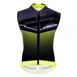 2016 Santini Interactive 3.0 Black-Green Cycle Vest