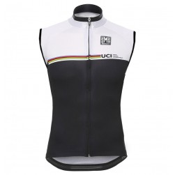 2016 Santini UCI Rainbow Line White Cycle Vest