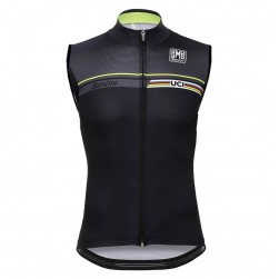 2016 Santini UCI Rainbow Line Black Cycle Vest