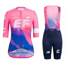2019 Rapha EF Education Pink Women's Cycling Jersey And Bib Shorts Set
