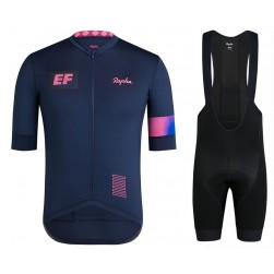 2019 Rapha EF Team Blue Cycling Jersey And Bib Shorts Set
