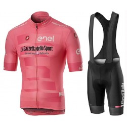 2019 Giro D'Italy Maglia Rosa Cycling Jersey And Bib Shorts Set