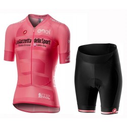 2019 Giro D'Italy Maglia Rosa Women's Cycling Jersey And Shorts Set