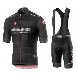 2019 Giro D'Italy Maglia Nera Cycling Jersey And Bib Shorts Set