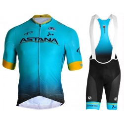2019 Astana Team Cycling Jersey And Bib Shorts Set