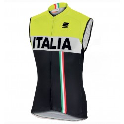 2016 Spоrtful Italy IT Black-Yellow Cycle Vest