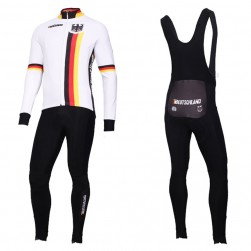 2019 Germany Country Team Long Sleeve Cycling Jersey And Bib Pants Set