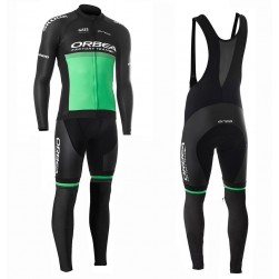 2019 Orbea Factory Racing Green Long Sleeve Cycling Jersey And Bib Pants Set