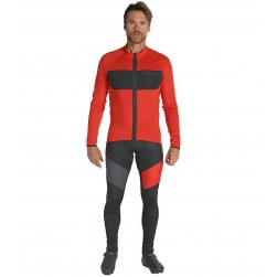 2019 Scott RC FF Red Long Sleeve Cycling Jersey And Bib Pants Set