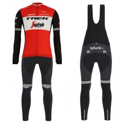 2019 Trek Factory Racing Red Long Sleeve Cycling Jersey And Bib Pants Set