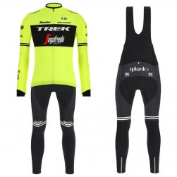 2019 Trek Factory Racing Yellow Long Sleeve Cycling Jersey And Bib Pants Set