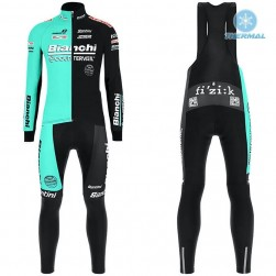 2019 Bianchi Countervail Thermal Cycling Jersey And Bib Pants Set