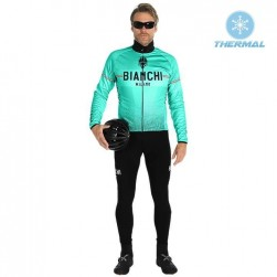 2019 Bianchi Milano XD Green Thermal Cycling Jersey And Bib Pants Set