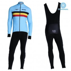 2019 Belgium Country Team Thermal Cycling Jersey And Bib Pants Set
