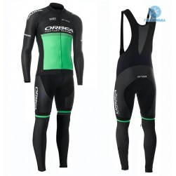 2019 Orbea Factory Racing Green Thermal Cycling Jersey And Bib Pants Set