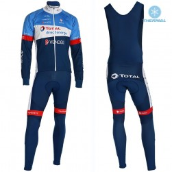 2019 Total Blue Thermal Cycling Jersey And Bib Pants Set