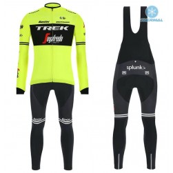 2019 Trek Factory Racing Yellow Thermal Cycling Jersey And Bib Pants Set
